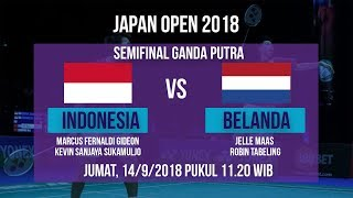 Download Video Jadwal Live Semifinal Ganda Putra, Marcus/Kevin Sanjaya Vs Belanda di Japan Open 2018 MP3 3GP MP4