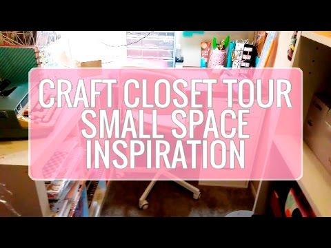 CRAFT CLOSET UPDATE | NEW STORAGE | SMALL SPACE INSPIRATION