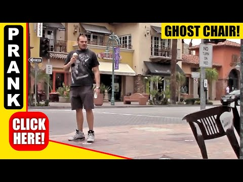 GHOST CHAIR PRANK - PULLING CHAIR PRANK!!