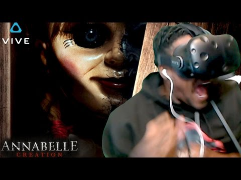 [WARNING] DON'T WATCH THIS MOVIE ALONE |  ANNABELLE: CREATION - Official Trailer HTC Vive REACTION