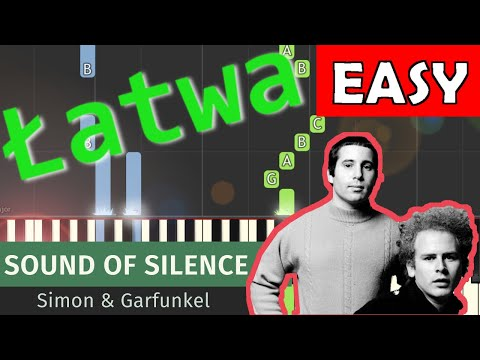 🎹 Sound of Silence (Simon & Garfunkel) - Piano Tutorial (łatwa wersja) 🎹