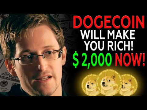 Edward Snowden Reveals When DOGECOIN Will Be $2,000 I Dogecoin Price Prediction