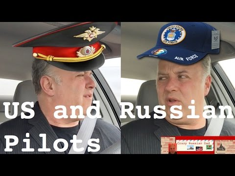 USA and Russian pilots talk in mid-air