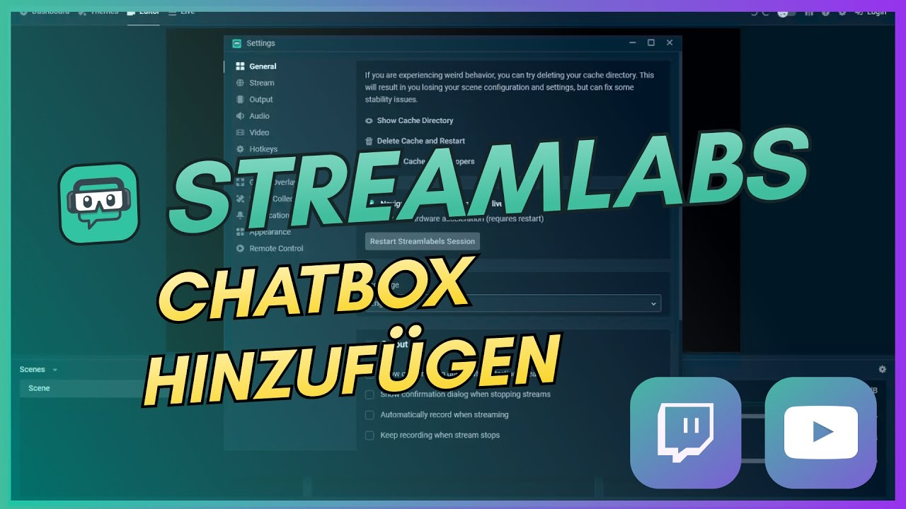STREAMLABS OBS CHATBOX EINRICHTEN(10)  STREAMLABS OBS TUTORIAL  Deutsch  / German
