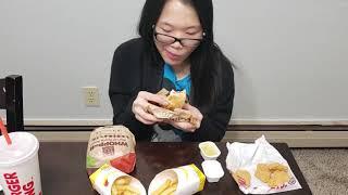 Burger King Whopper, Fries, Nuggets Mukbang