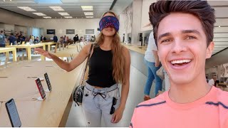 Download Buying EVERYTHING My Sister Touches Blindfolded! | Brent Rivera Mp3 and Videos