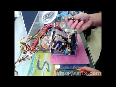 Computer power supply PSU fault troubleshooting and repair