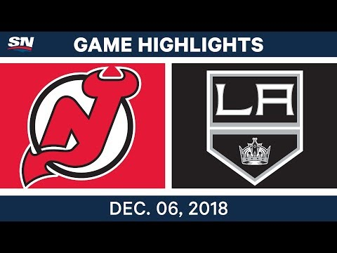 NHL Highlights | Devils vs. Kings - Dec 6, 2018