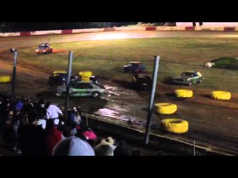 River City Speedway in St Helens OR 4cyl demolition derby 7