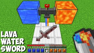 What if you CREATE SWORD WITH LIQUID in Minecraft ? LAVA WATER SWORD !