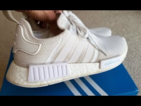 How To CLEAN Your Dirty Filthy WHITE Adidas NMD R1 Shoes!  9 16 18