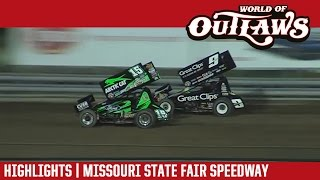 World of Outlaws Sprint Cars | Missouri State Fair Speedway 5/6/17