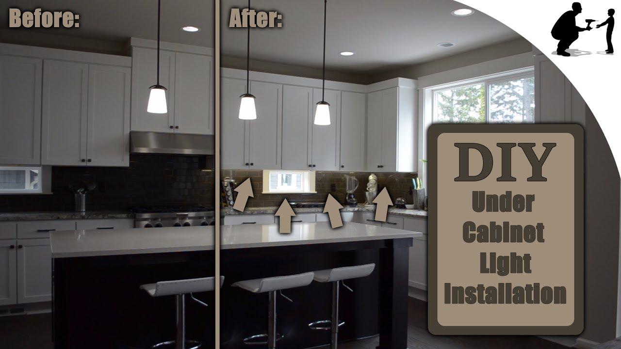 how to install custom under cabinet led lighting
