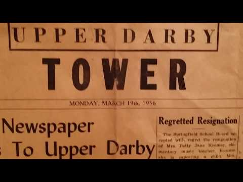 "RJ Ron Joseph Remembers 5: ""The Upper Darby Tower"" Newspaper (1956)"