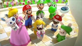Mario + Rabbids Kingdom Battle | ALL CUTSCENES Movie Game | ZigZag