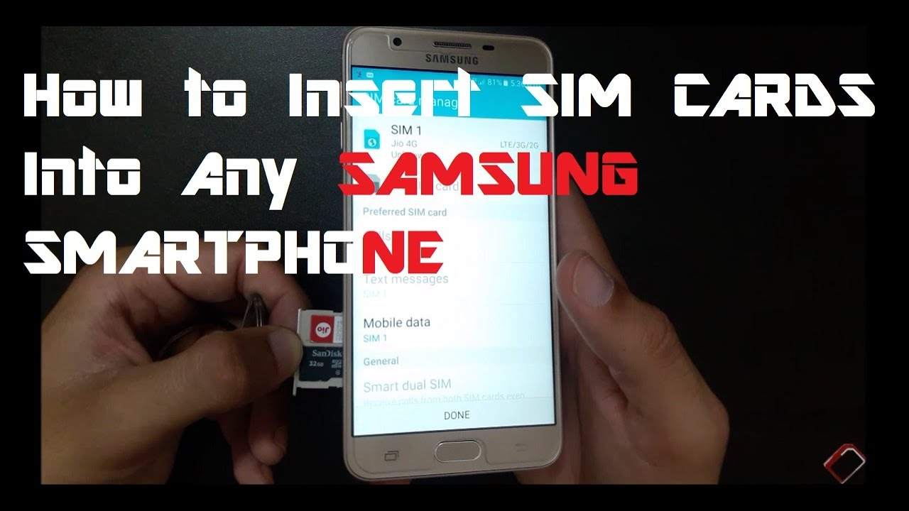 how to make samsung phone accept sd card