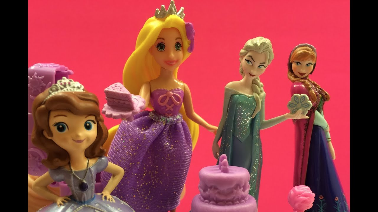Rapunzel Gives A Party For Her Princess Friends Queen Elsa Princess Anna Amp Sofia The First