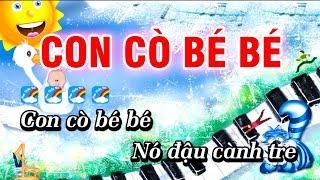 Con Cò Bé Bé Karaoke Nhạc Thiếu Nhi Hay | Karaoke Con Cò Bé Bé