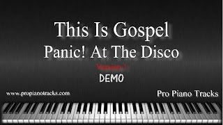 This Is Gospel V.1 Panic At The Disco Piano Accompaniment Karaoke/Backing Track and Sheet Music