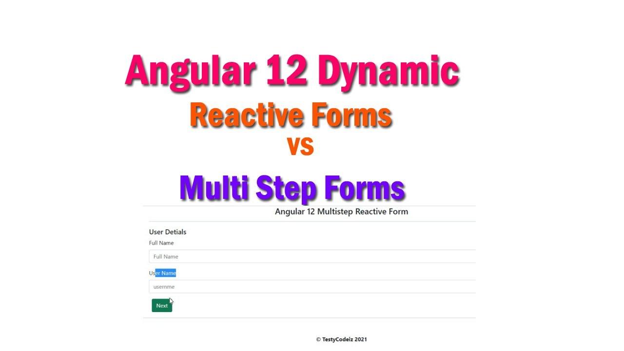 Angular 12 Dynamic Reactive Forms