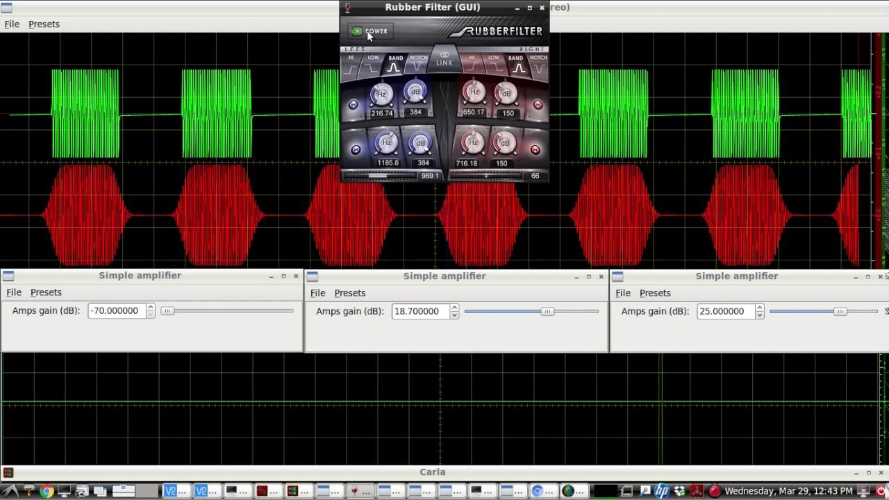 HAM RADIO - Free VST Plugins - LIVE DEMO of a CW audio bandpass filter  called