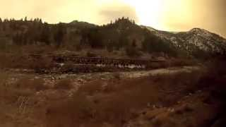Donner Pass Zephyr amtrak reno nevada truckee california river gopro hero train railroad trains