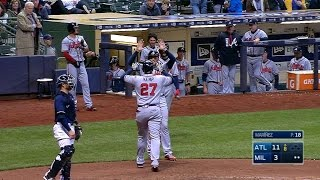 4/29/17: Kemp's three homers lead Braves to 11-3 win