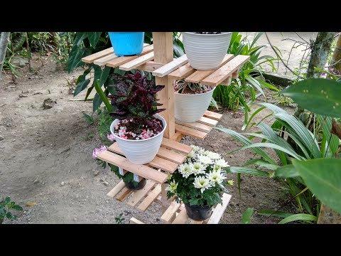 Wooden Plants Stand Ideas | DIY Garden