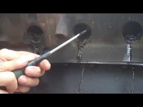 351W engine build Freeze Plug 1