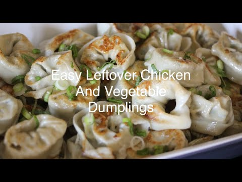 Easy Leftover Chicken and Vegetable Dumplings