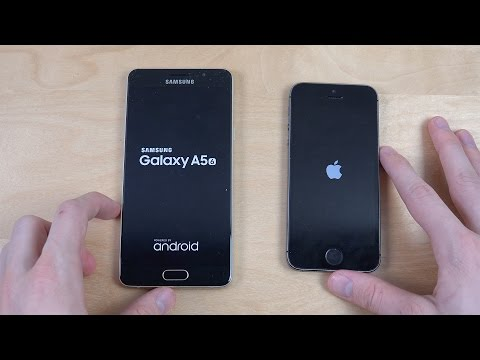 Samsung Galaxy A5 2016 vs. iPhone 5S - Speed Test!
