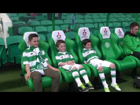 Celtic v Aberdeen Mascot Footage May 2016