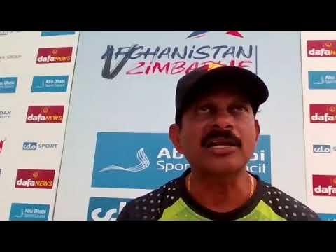 Lalchand Rajput | Post-Match Press Conference | Afghanistan v Zimbabwe | First T20I | Abu Dhabi