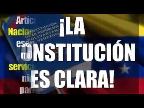 Constitución Art 328 FFAA son de Venezuela / Ni de una persona ni un partido político