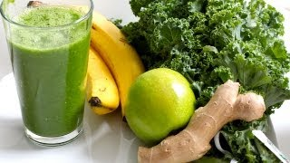 Glowing Green Smoothie for Glowing Clear Skin and Shiny Hair (Beauty Detox Solution)
