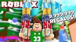 9,999,999 REGALOS de NAVIDAD CHALLENGE en Roblox !! | Present Wrapping Simulator