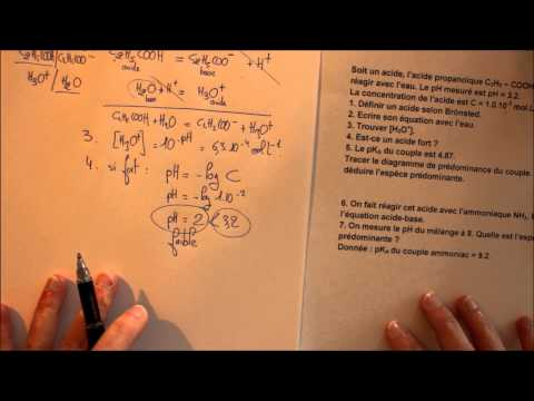 acides bases - exercice - Terminale ST2S - MOOC#1