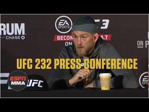 Alexander Gustafsson UFC 232 Post-Fight Press Conference | ESPN MMA
