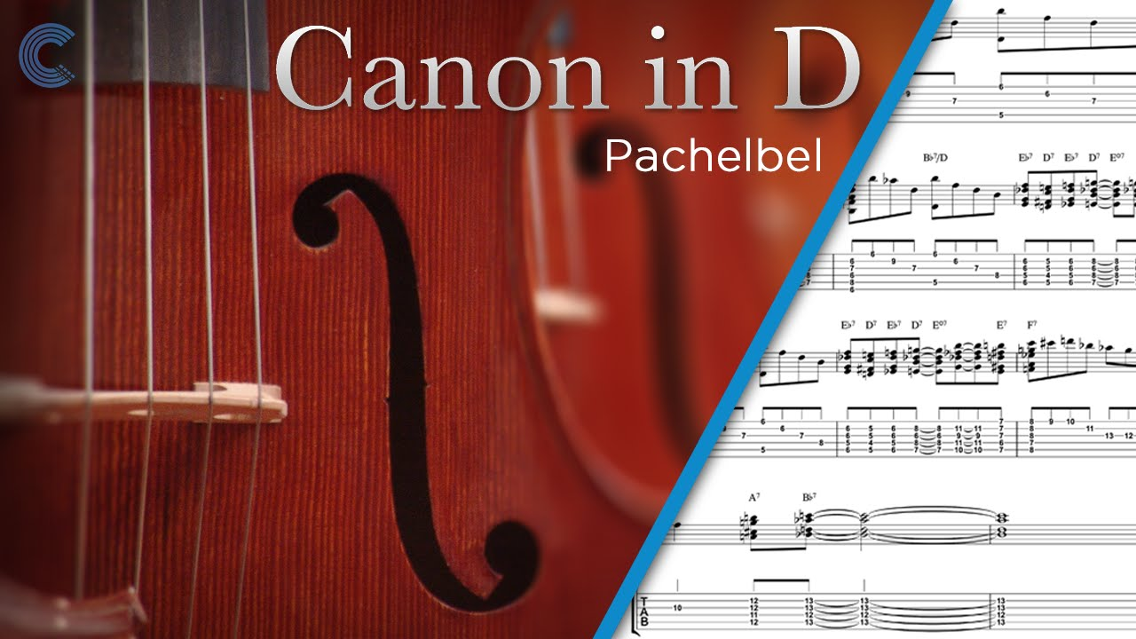 Bass Canon In D Pachelbel Sheet Music Chords Youtube