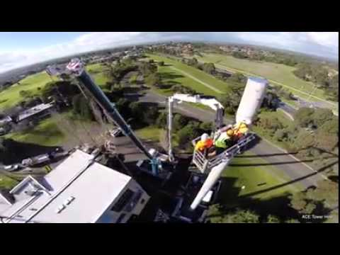 Installing a Monopole Cell Phone Tower Build Rigging Antennas Madurai Chennai