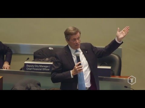 Mayor John Tory launches the 2016 series of TechToronto.org at City Hall