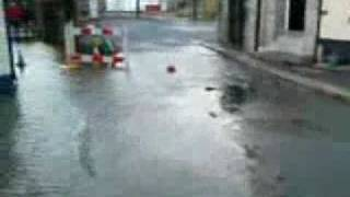 Saltash in Cornwall flooded by high tide - part one