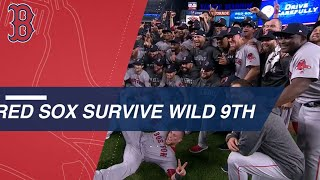 Red Sox survive wild 9th to advance to the ALCS