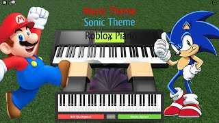 Roblox piano: How to play The Super Mario bros theme song and the Sonic Green Hill zone theme