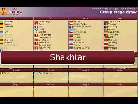 Uefa Europa League Draw 2009/10