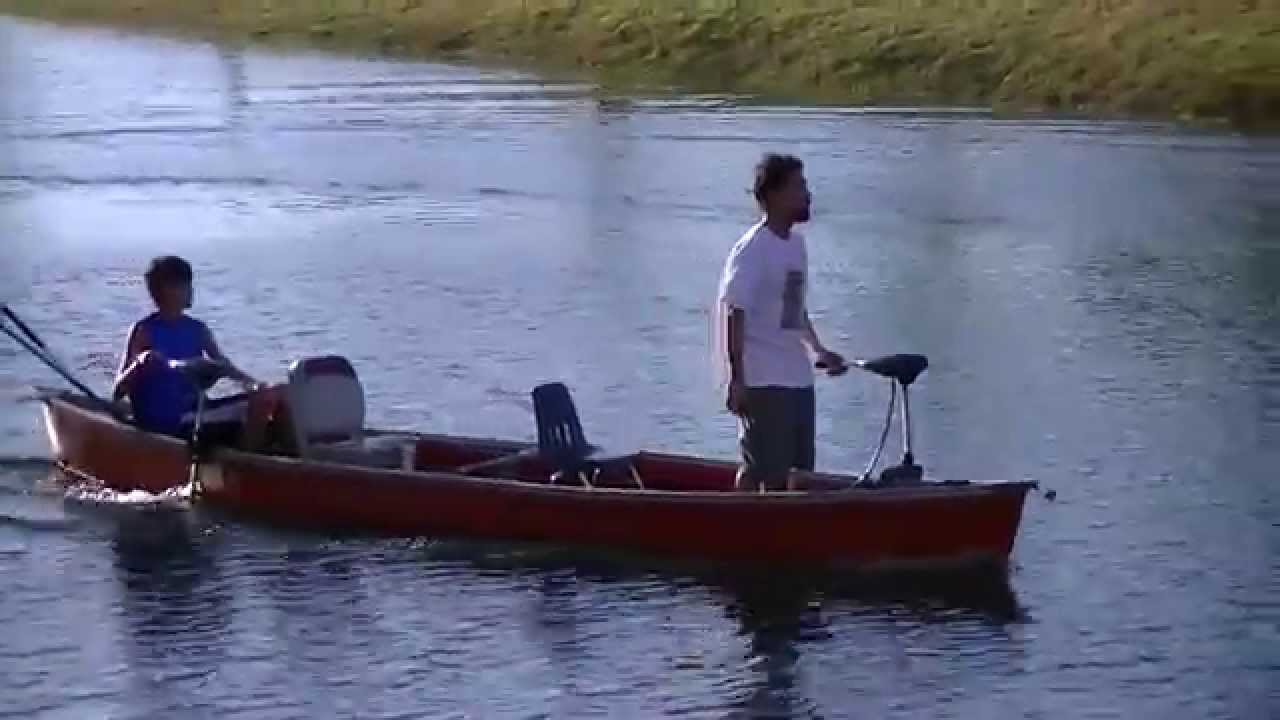 17 Canoe Two Trolling Motors Bow And Stern Mount Youtube