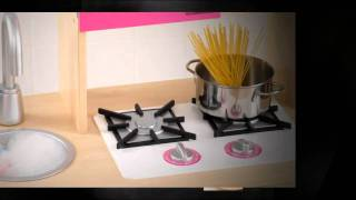 Kidkraft Pink Wooden Kitchen 53195 - Entertaining Play Kitchen For Kids