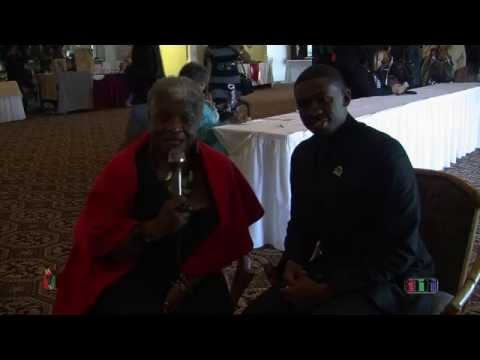 Queen Ann Cannon interviews Milan Balinton of the African-American Community Service Agency