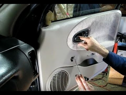 Inner Door Panel Removal Youtube