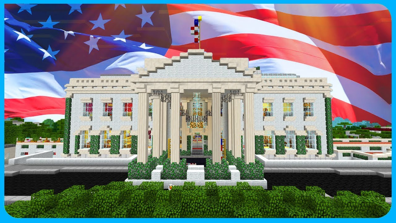 Minecraft PE Maps - THE WHITE HOUSE with Download! iOS & Android MCPE Maps  1 1 / 1 2